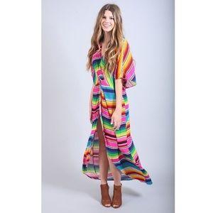 SMYM serape party cloud get twisted maxi dress